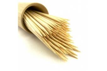 """(1000, 10cm ) - BambooMN Brand Premium Round Bamboo Skewers 4.1"""" X 3mm - 1,000pc"""