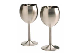 (1, Set of 2) - RSVP Endurance Stainless Steel Wine Glass, Set of 2