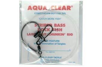 Aqua Clear ST-7BHFF Striped Bass Fish Finder Rig, Size 7/0, Nickel Finish