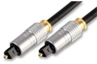 Cables 4 ALL Supreme 5m Optical Cable - Gold Plated / Digital Audio / Metal Plugs / 6mm Diameter for improved performance / 5 Metre