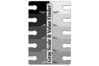 (10cm  X 15cm , Black/White) - Grey Scale & Value Finder