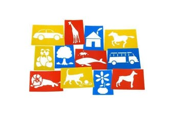 (1, Classic) - Giant Assorted Stencils (Set of 12)