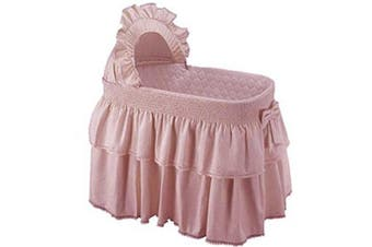 (Pink) - Baby Doll Bedding Paradise Rainbow Bassinet Bedding for Girly, Pink