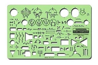 (electrical/electronicstandardsymbolseach) - -Chartpak Electrical Drafting and Design Templates electrical/electronic standard symbols each