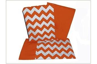 (Orange) - Baby Doll Chevron Crib and Toddler Sheet Set, Orange