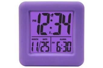(purple) - Equity by La Crosse 70904 Soft Purple Cube LCD Alarm Clock