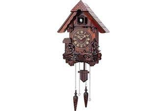 Cuckoo Clock Hand Carved Wooden Accents Precise Quartz Movement by ARADTM
