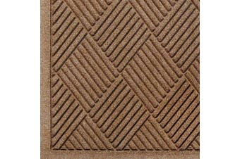 Andersen 221 Waterhog Fashion Diamond Polypropylene Fibre Entrance Floor Mat, Indoor/Outdoor, SBR Backing, 0.9m Length x 0.6m Width, 0.6cm Thick, Medium Brown