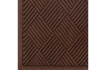 Andersen 221 Waterhog Fashion Diamond Polypropylene Fibre Entrance Indoor/Outdoor Floor Mat, SBR Rubber Backing, 0.9m Length x 0.6m Width, 1cm Thick, Dark Brown