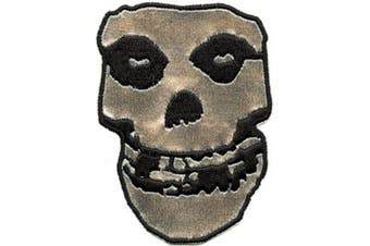 The Misfits - 25cm Large Silver Vinyl Back Patch with Embroidered Edges