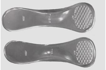 Womens clear gel orthotic massaging insoles for stiletto and flat shoes