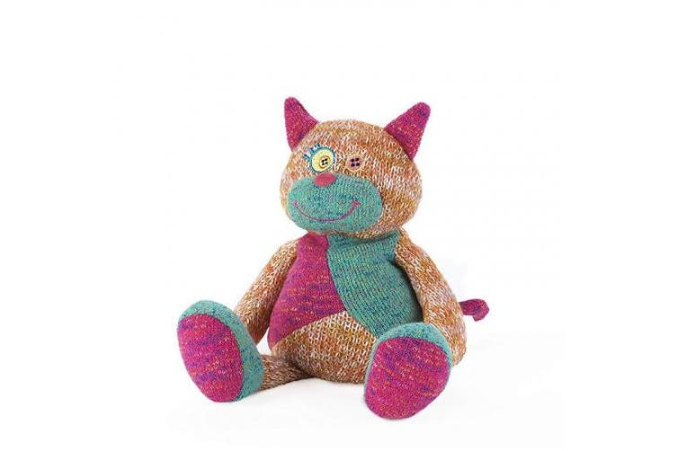 (Cat) - New Intelex Warmies - Knitted Microwavable Toys: CAT