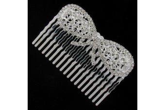Filigree Bow Bridal Hair Comb