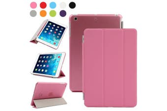 (iPad Mini 2/3, Pink) - Besdata For Apple iPad mini 2 / mini 3 with retina display Magnetic Smart Cover Stand + Hard Back Case + Free Stylus Touch Pen + Free Screen Protector + Free Cleaning Cloth - Supreme Quality - Protects the Device - UK Stock -