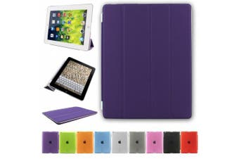 (iPad 2/3/4, Purple) - Besdata. Ultra Thin Magnetic Smart Cover + Back Case For Apple iPad 2 iPad 3 ipad 4, 2nd, 3rd & 4th Generation - Supreme Quality - Protects the Device - UK Stock - Purple - PT2605