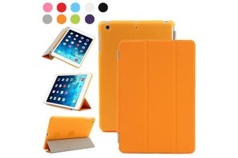 (iPad Mini 2/3, Orange) - Besdata For Apple iPad mini 2 / mini 3 with retina display Magnetic Smart Cover Stand + Hard Back Case + Free Stylus Touch Pen + Free Screen Protector + Free Cleaning Cloth - Supreme Quality - Protects the Device - UK Stock -