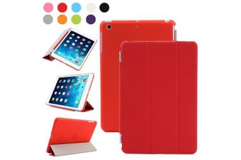 (iPad Mini 2/3, Red) - Besdata For Apple iPad mini 2 / mini 3 with retina display Magnetic Smart Cover Stand + Hard Back Case + Free Stylus Touch Pen + Free Screen Protector + Free Cleaning Cloth - Supreme Quality - Protects the Device - UK Stock - Red