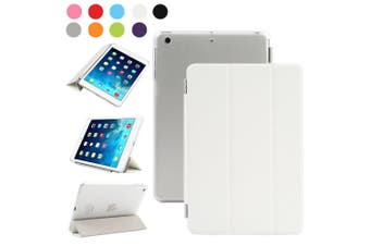 (iPad Mini 2/3, White) - Besdata Magnetic Smart Cover Stand + Hard Back Case + Free Stylus Touch Pen + Free Screen Protector + Free Cleaning Cloth For Apple iPad mini 2 / mini 3 with retina display - Supreme Quality - Protects the Device - UK Stock -
