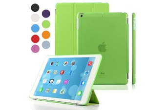 (iPad Air, Green) - Besdata For Apple iPad Air Magnetic Smart Cover Stand + Hard Back Case Free Stylus - Supreme Quality - Protects the Device - UK Stock - Green - PT4106