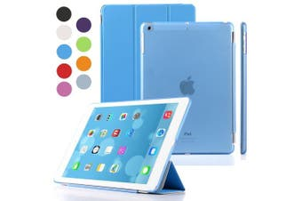 (iPad Air, Blue) - Besdata Magnetic Smart Cover Stand + Hard Back Case Free Stylus For Apple iPad Air - Supreme Quality - Protects the Device - UK Stock - Blue - PT4102