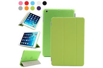 (iPad Mini 2/3, Green) - Besdata For Apple iPad mini (2nd) with retina display Magnetic Smart Cover Stand + Hard Back Case + Free Stylus Touch Pen + Free Screen Protector + Free Cleaning Cloth - Supreme Quality - Protects the Device - UK Stock - Green -