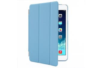 (iPad Mini 2/3, Blue) - Besdata Magnetic Smart Cover Stand + Hard Back Case + Free Stylus Touch Pen + Free Screen Protector + Free Cleaning Cloth For Apple iPad mini 2 / mini 3 with retina display - Supreme Quality - Protects the Device - UK Stock -