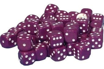 (Purple) - 50 x 10mm opaque Plastic dice (Purple)