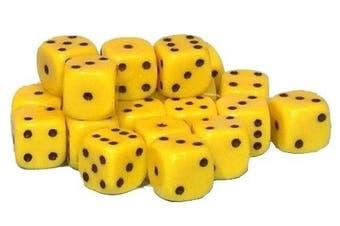 (Yellow) - 50 x 10mm opaque Plastic dice (Yellow)