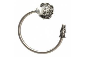 (Satin) - Carpe Diem Hardware Carpe Diem 1646-11 Acanthus Satin Towel ring right, , Satin