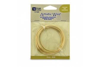 Artistic Wire 16S Gauge Wire, Gold Colour, 3m
