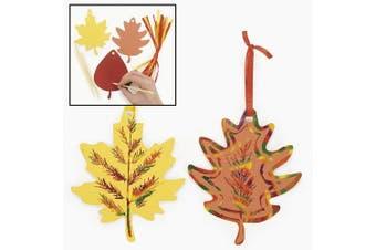 Colourful Paper Magic Colour Scratch Leaves (24 pc)