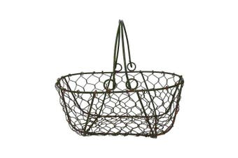 Gathering Basket in Green/Rust