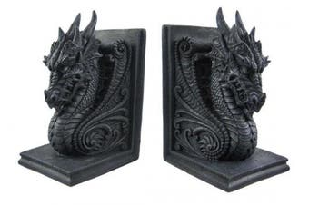 Gothic Dragon Bookends Midieval Book Ends Evil Mediaeval 8266