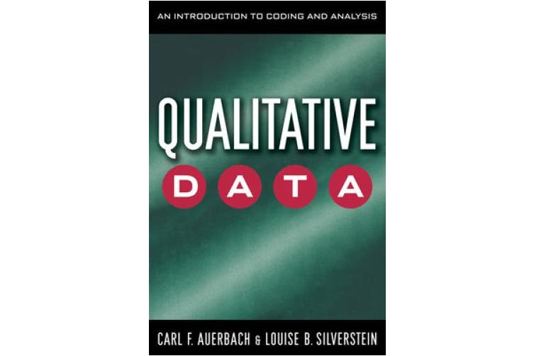 Qualitative Data: An Introduction to Coding and Analyzing (Qualitative Studies in Psychology)