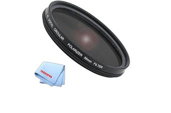 (58mm) - Tronixpro 58mm Pro Series High Resolution Circular Polarised Filter + Microfiber Cloth