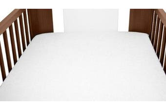 (White) - Terry Towelling Fitted Sheet 140x70 Nursery Baby Cot/ Cotbed/ Mattress/ Frotte