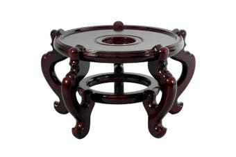(Size 10) - Oriental Furniture Traditional Asian Furniture and Decor 27cm Diameter Chinese Fish Bowl Jardiniere Planter Pot 5 Leg Base/Stand