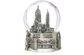 Silver New York City Snow Globe Gift 4.5 Inch (80mm) from NYC Snow Globes Souvenirs Collection