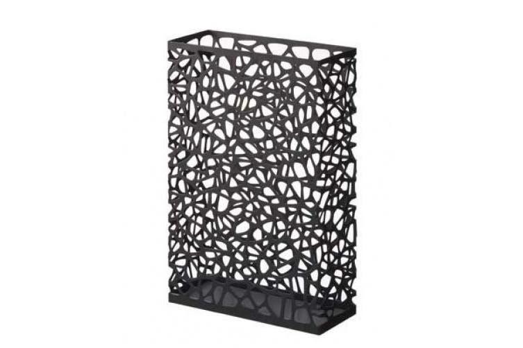Nest - Black Metal Rectangular Umbrella Stand, Modern Home Decor