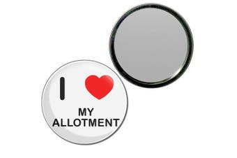 (55mm) - I Love My Allotment - 55mm Round Compact Mirror