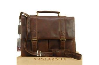 Visconti Vintage Leather Briefcase & Strap - VT6 - Bennett