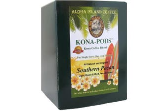 (18 Southern Pecan Pods) - Senseo Pods of Southern Pecan Flavoured Kona Blend Coffee, 18 Pods, Reusable Pod Adapter is Available for Keurig K-cup Brewing Systems