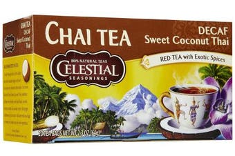 Celestial Seasonings Decaf Sweet Coconut Thai Chai Tea Bags, 20 ct