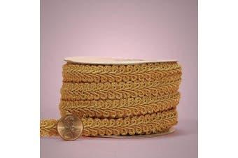 (1.6cm  x 10 Yd, Old Gold) - Old Gold Gimp Braid Trim 1.6cm X 10 Yards…