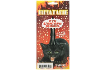 Inflatable Evil Unicorn Horn for Cats by Accoutrements - 12395