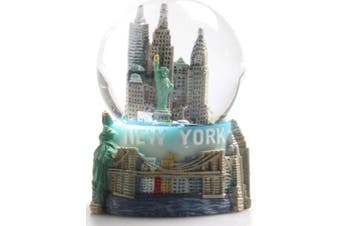 """New York City Snow Globe Featuring the NYC Skyline in this Souvenir Figurine with Statue of Liberty, 2.5"""" Tall (45mm)"""