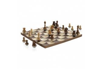 Umbra Wobble Chess Set Walnut