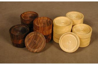 4.4cm Wood Stacking Checkers
