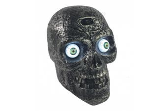 (Creepy Skull) - Liberty Imports Motion Sound Activated Skull with Glowing Eyes and Creepy Sounds - Halloween Prop Decoration