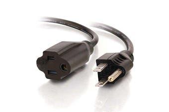 (1.2m) - C2G 29930 16 AWG Outlet Saver Power Extension Cord (NEMA 5-15P to NEMA 5-15R) TAA Compliant, Black (4 Feet, 1.22 Metres)